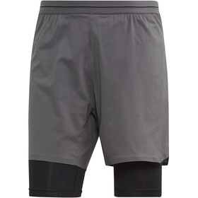 adidas TERREX Agravic - Pantalones cortos running Hombre - gris
